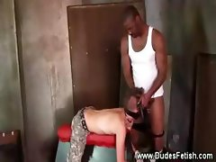Black gay master fond of his whip