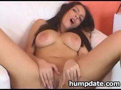 Busty babe masturbating on webcam