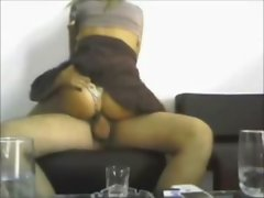 Hot ass latina rides on hidden cam