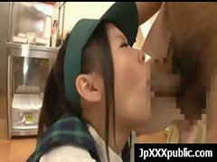Hot Young Japanese babes Fuck In Public video-14