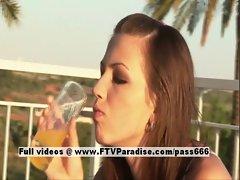 Lenka spiritual lovely girl teasing