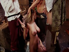 Massive tits and huge cocks gather in hardcore pirate pounding