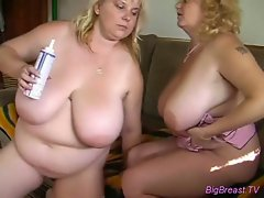 Fatty loves pussy licking action with her pal
