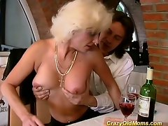 Crazy old milf fucks her friend