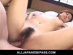 Japanese milf nana nanami fucked in hairy pussy