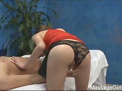 Hot 18yo gia gives a massage and blowjob