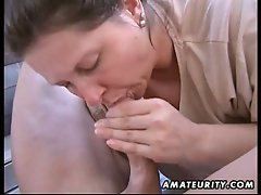 Amateur milf wifes gets pov fucked outside