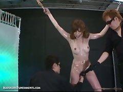 Japanese bondage sex and bdsm punishment