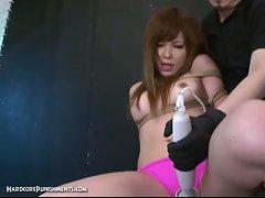 Hot japanese teen bondage and hairy pussy toyed