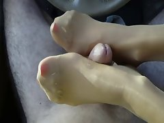 best nylon foot job ever