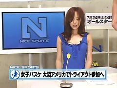 Another crazy japanese announcer gets bukkaked!