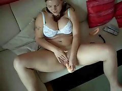 Chubby Ex Girlfriend pumping her wet dripping Pussy