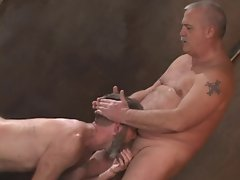 3 mature dads have fun