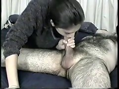 sucking hairy man