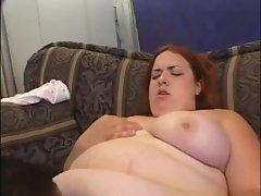 Chubby Redhead Enjoys Black Cock