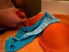 Soaking Mom&amp,#039,s Dirty Bra and Thong