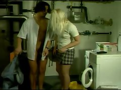 Germans couple in laundryroom