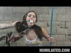 Brunette elizabeth ann humiliated at the car wash