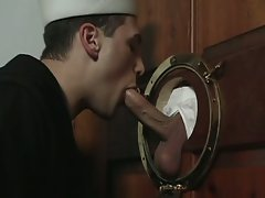 Port hole gloryhole for this sailor twink