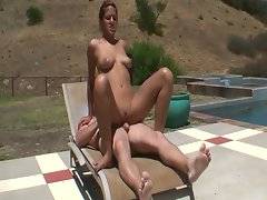 Cute lifeguard lyla storm fucked by the pool