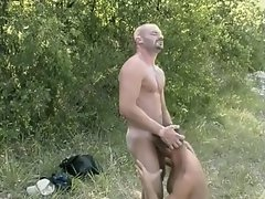 Sexy gay dudes fuck in the forest