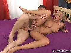 Kinky blonde milf enjoys getting pounded hard in the ass
