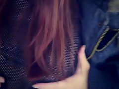 Teen redhead arial rebel shows off her hot body