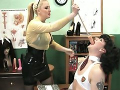 Slutty schoolgirls are getting punished by angry teacher