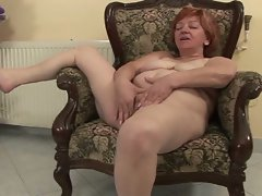 Horny granny stuffed with cock