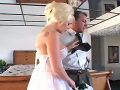 Blonde bride loves hardcore ass drilling action