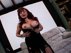 Sexy milf with pantyhose make tattooed guy cum