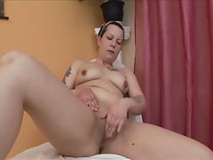 Brunette lesbians are barefoot and pregnant
