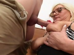 Hey my busty blonde grandma is definitely a whore
