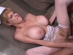 Delicious monster tits blonde nurse awesome pussy drilling