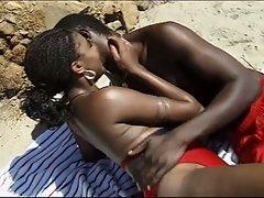 Hot black fuck by the beach