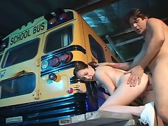 Huge cock school bus driver fucking fresh teen schoolgirl