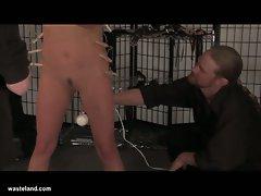 Horny babe loves bondage fucking