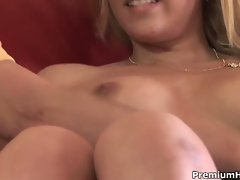 Hot blonde babe cody takes swallowing seriously