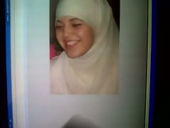 Cumshot Tribute to Arab Hijabi jizzlover Manal