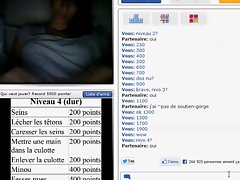 Arab girl shows her amazing tits on french Chatroulette