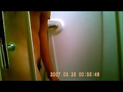 French arab girl taking a shower (Hidden cam)