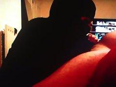 Fat Arab niqab hijabi burka bbw wife sucking blowjob handjob
