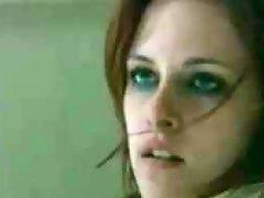 Kristen Stewart shows a little bit of her skin in this movie clip....