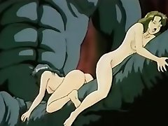 Hentai babes get fucked by monster and his tentacles...