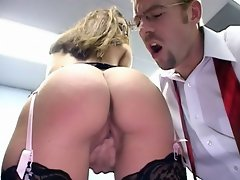 Appealing secretary with bubble ass Jordana James gets nailed from...
