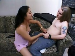 This Asian midget whore gives it all for this enormous, raging, horny...