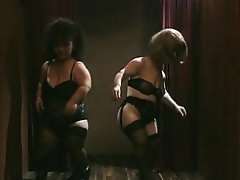 These two midget sluts find themselves starring in a horny gangbang...