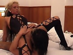 This blonde hair whore wants a threesome a cock in her pussy and...
