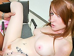 Pretty redhead girl gets plugged with her teachers cock...