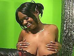 Chunky ebony chick Dee Dee loves to make her breasts and ass jiggle...